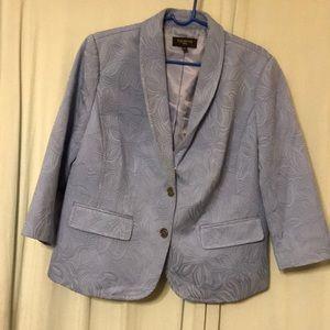 Talbots baby blue blazer zs 14w